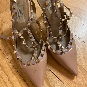 VALENTINO ROCKSTUD KITTEN HEELS AUTHENTIC